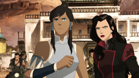 Korra_and_Asami_facing_bandits