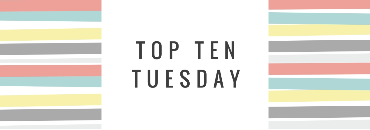 Top Ten Tuesday // Contemporaries, graphic novels, and funny books to save for a rainy day