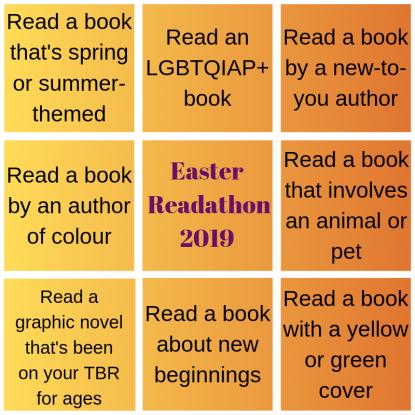 Easter Readathon challenge board final