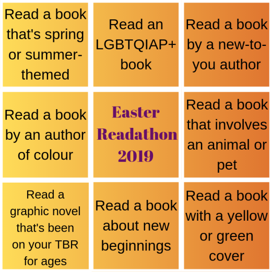 Easter Readathon challenge board final