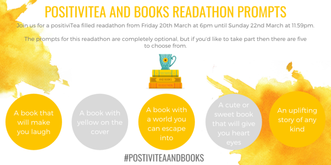 positivi-tea and books readathon prompts