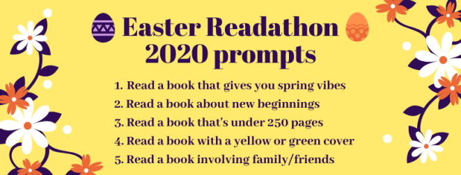 Easter Readathon 2020 prompts