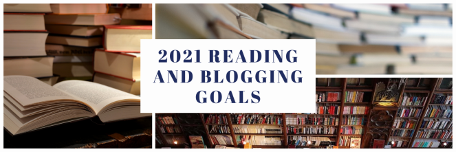 Banner reading: 2021 reading and blogging goals